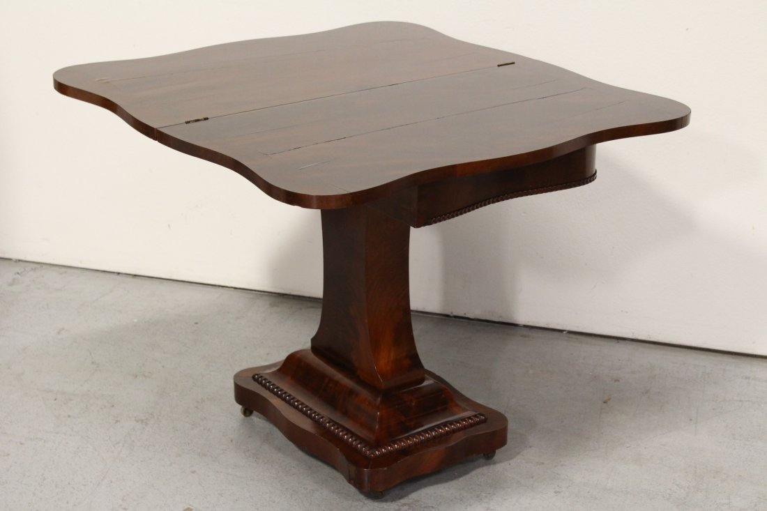 A flame mahogany period empire game table - 6