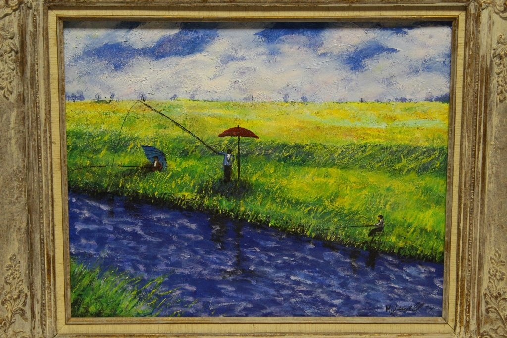 Oil on canvas, signed M. Jewell - 2