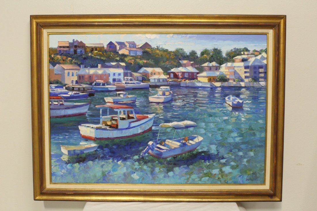 Beautiful oil on canvas by Howard Behrens