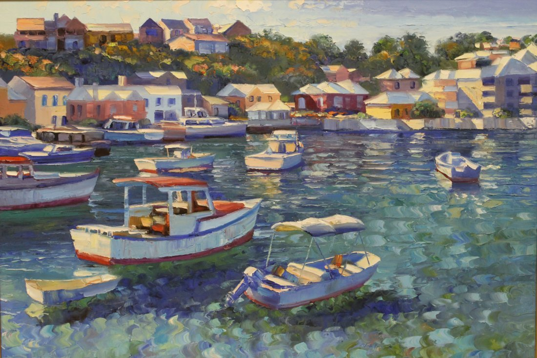 Beautiful oil on canvas by Howard Behrens - 2