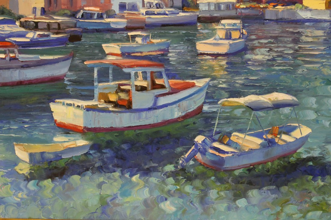 Beautiful oil on canvas by Howard Behrens - 3