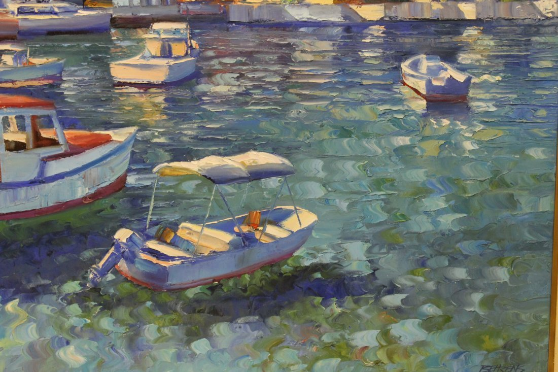 Beautiful oil on canvas by Howard Behrens - 4