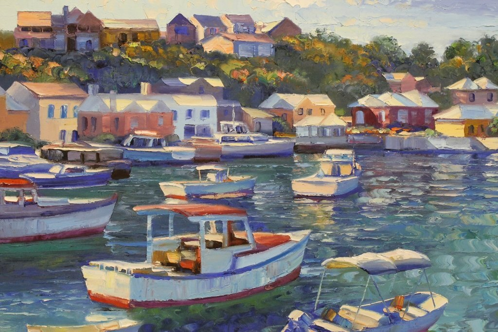 Beautiful oil on canvas by Howard Behrens - 6