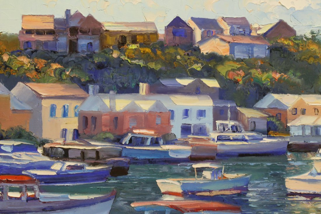 Beautiful oil on canvas by Howard Behrens - 7