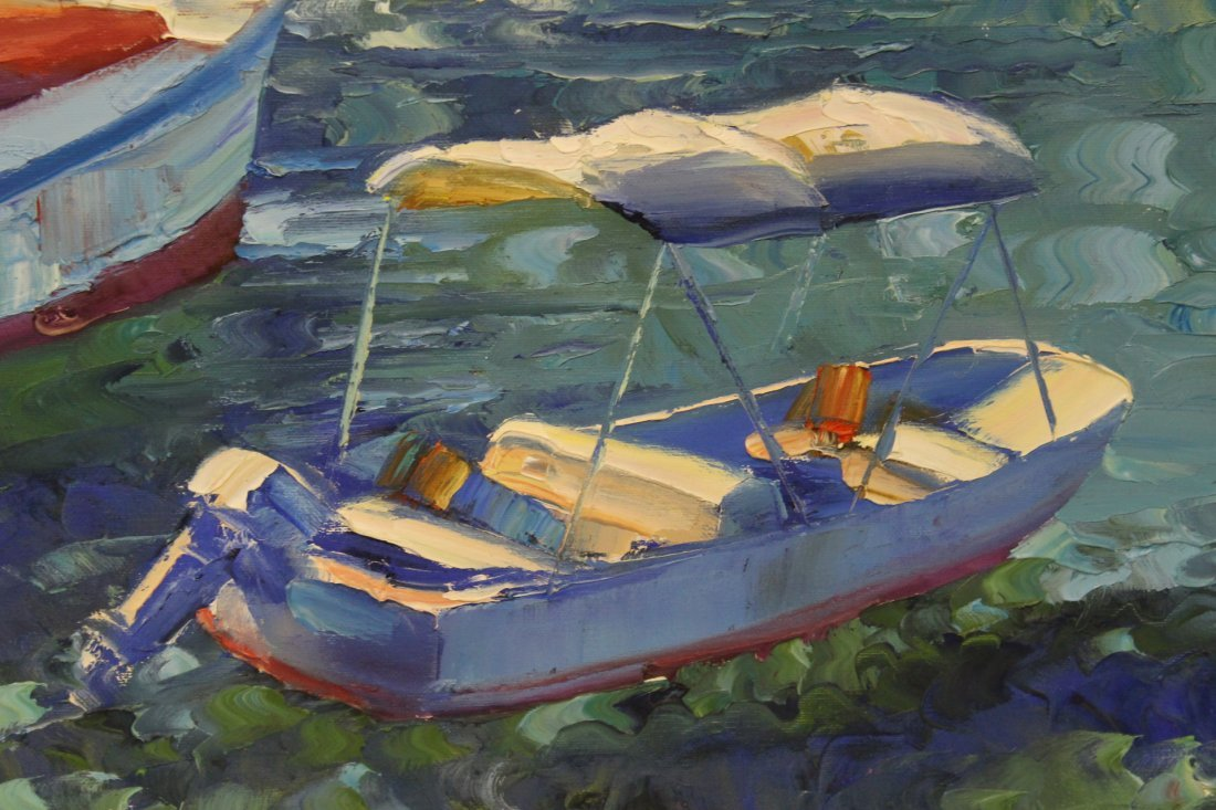 Beautiful oil on canvas by Howard Behrens - 8