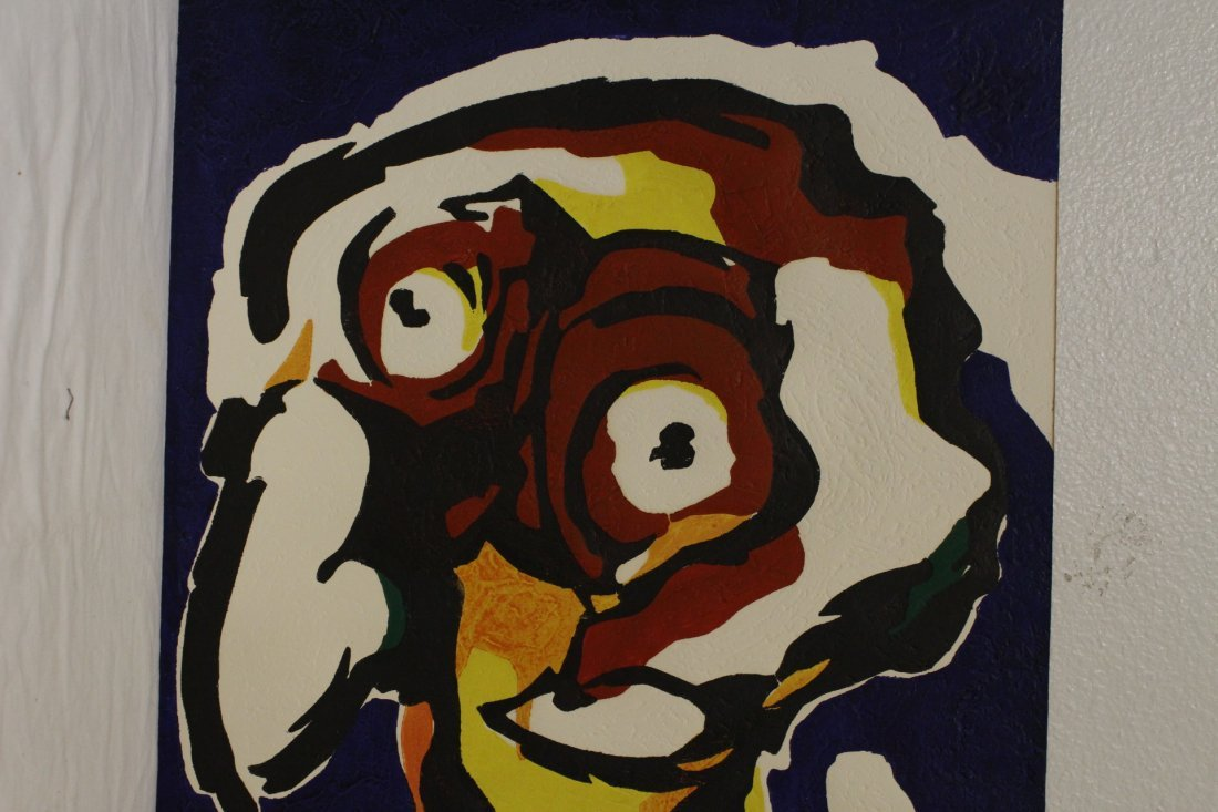"""Etching """"abstract"""" by Karel Appel, dated 1977 - 7"""