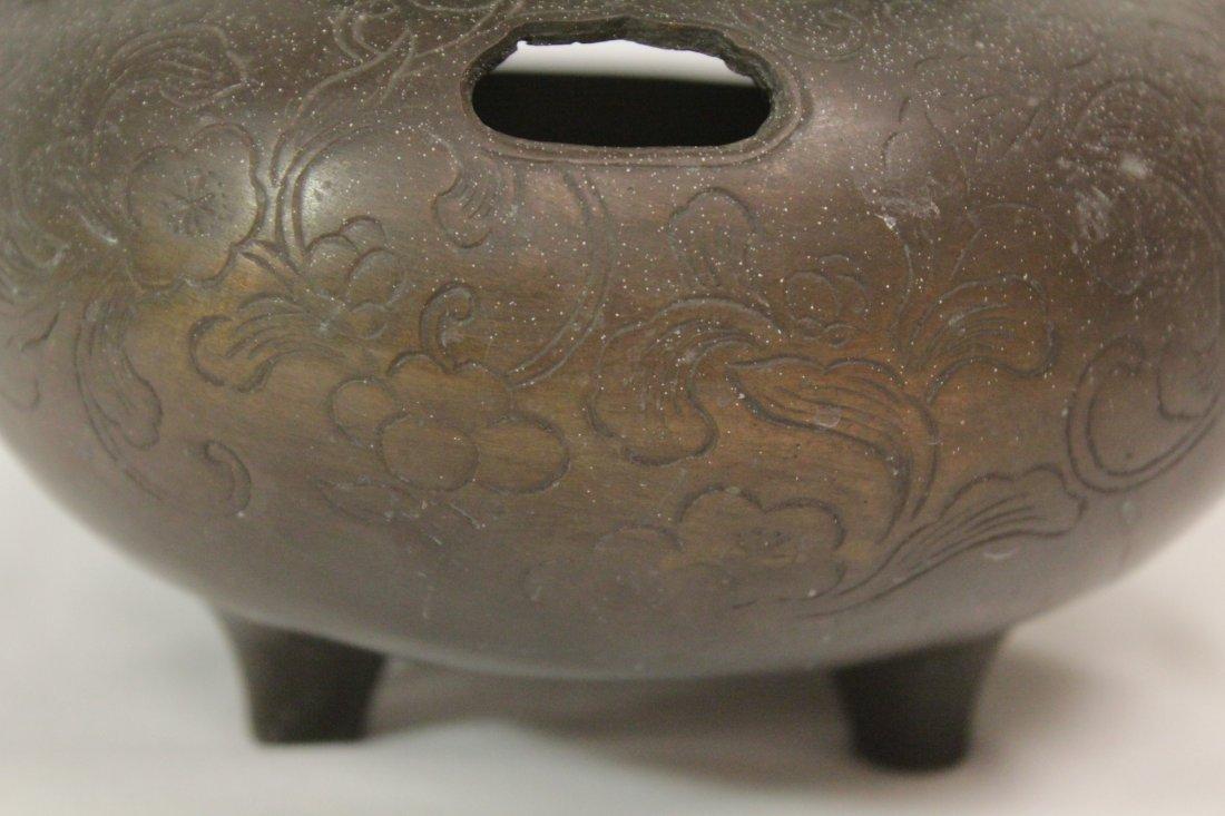 Japanese antique bronze censer - 10