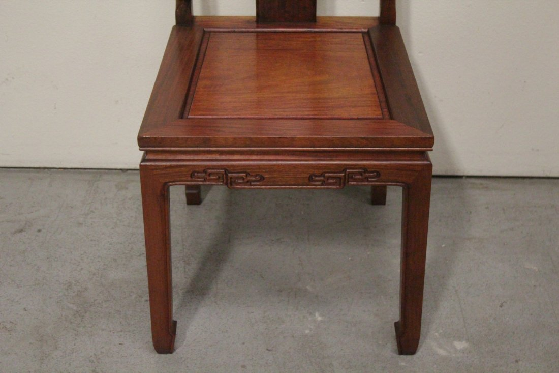 Chinese rosewood round table with 4 chairs - 10