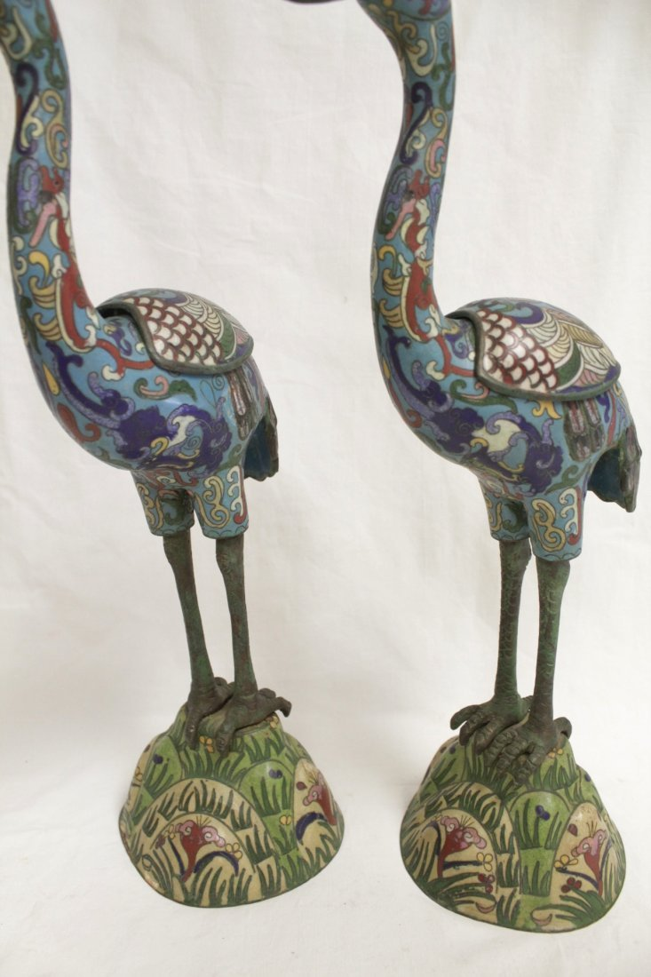 Pair Chinese 19th/20th century candle holders - 10