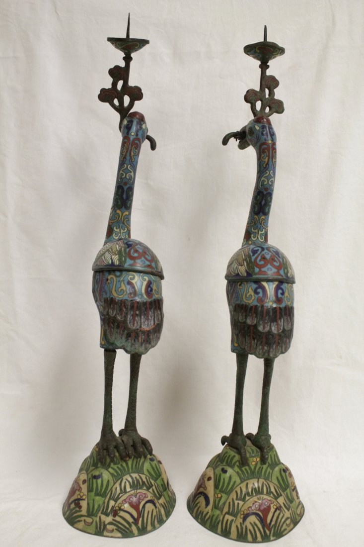 Pair Chinese 19th/20th century candle holders - 4