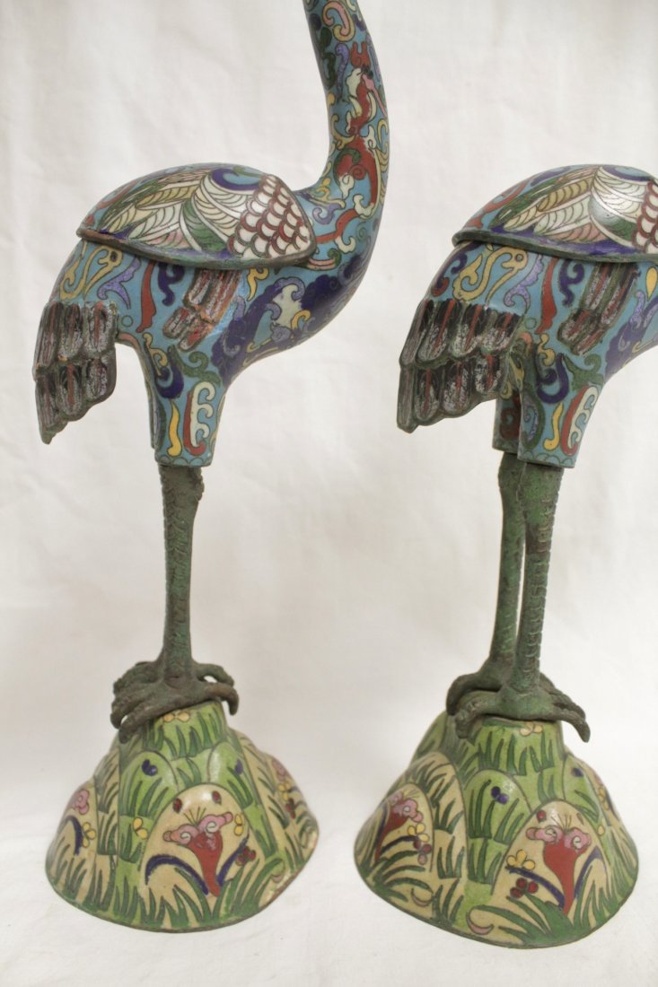 Pair Chinese 19th/20th century candle holders - 7