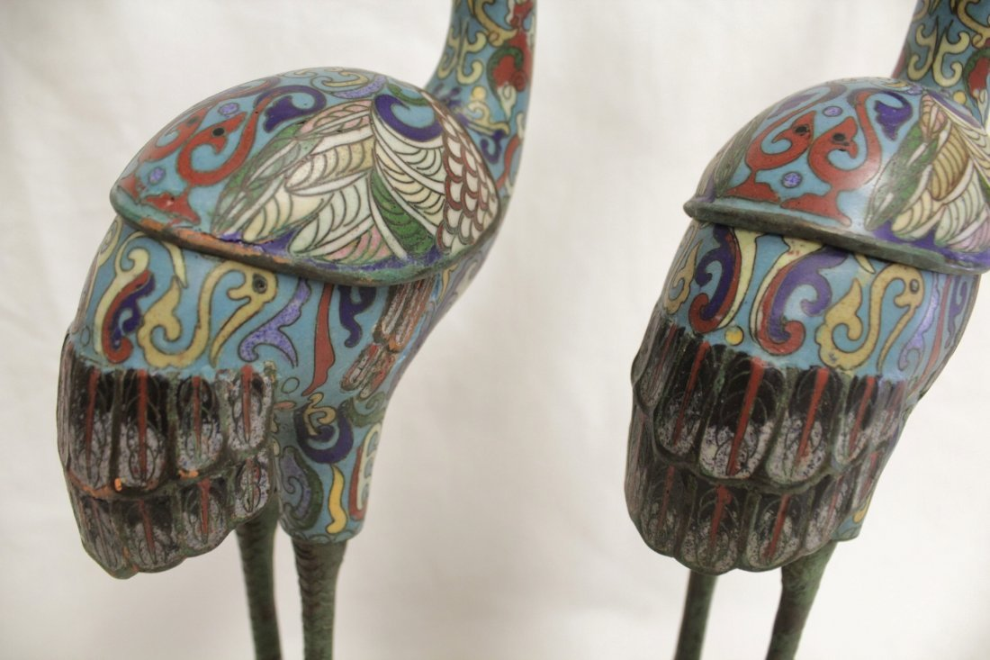 Pair Chinese 19th/20th century candle holders - 8