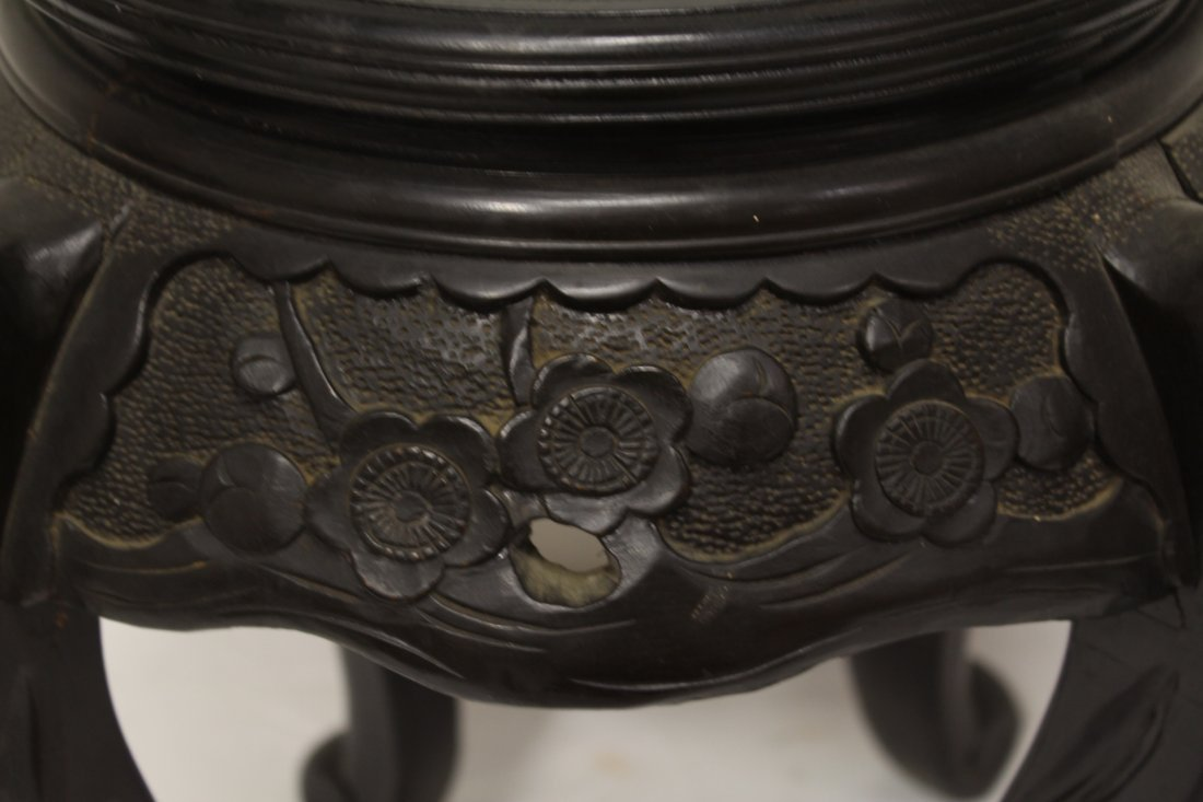Chinese rosewood pedestal low table - 3