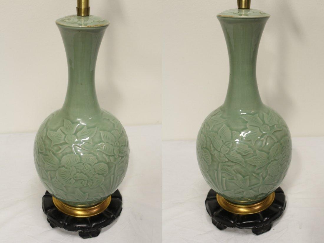 A Marlboro lamp with celadon porcelain base - 3
