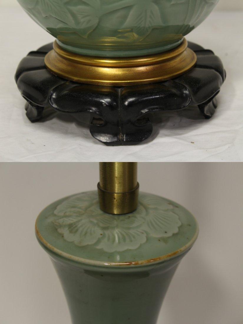 A Marlboro lamp with celadon porcelain base - 4
