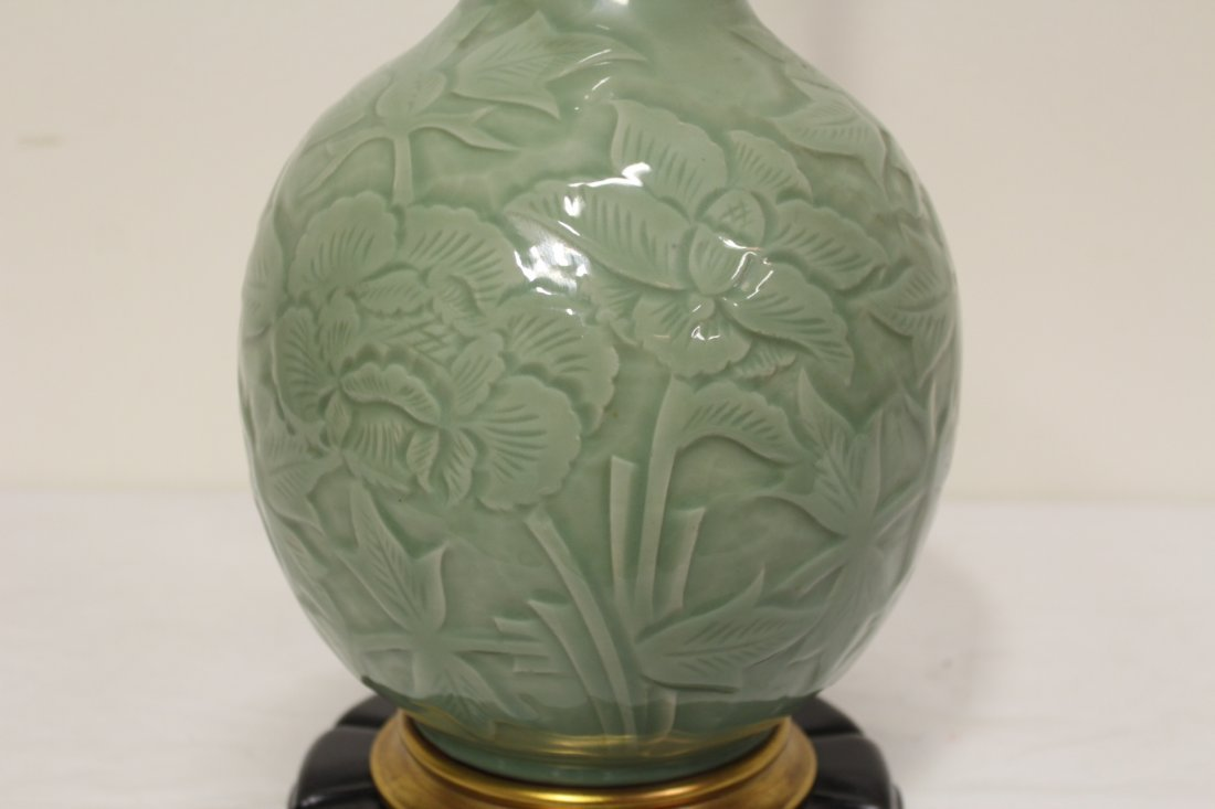 A Marlboro lamp with celadon porcelain base - 5