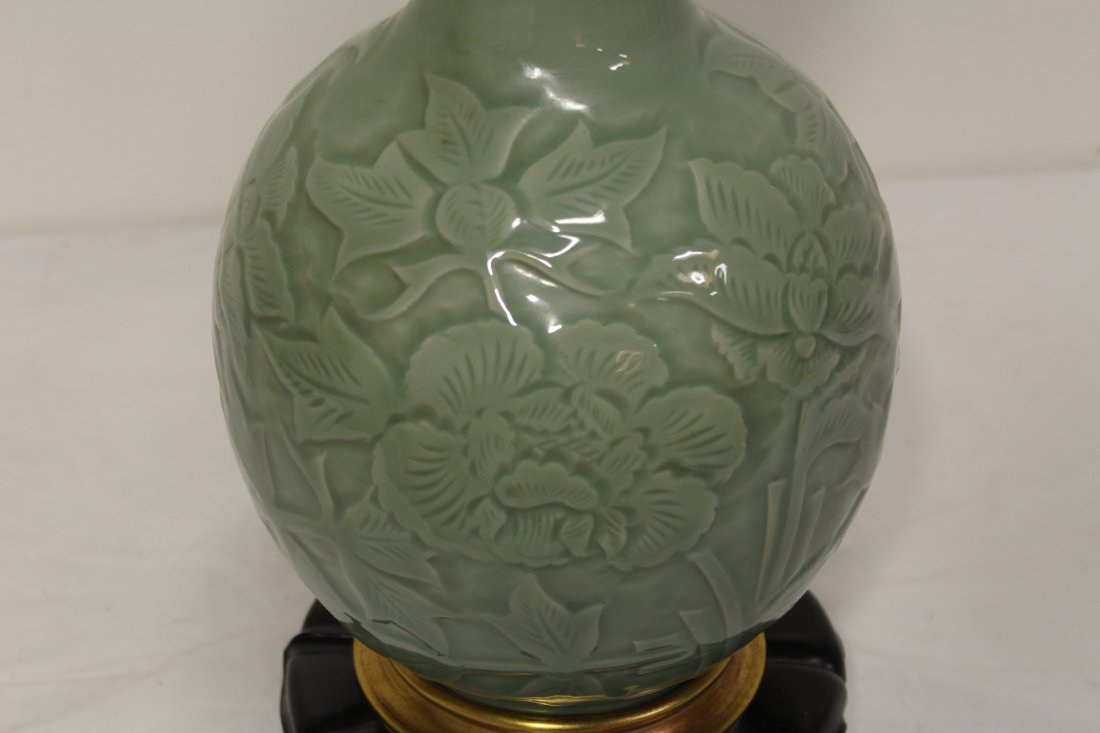 A Marlboro lamp with celadon porcelain base - 8
