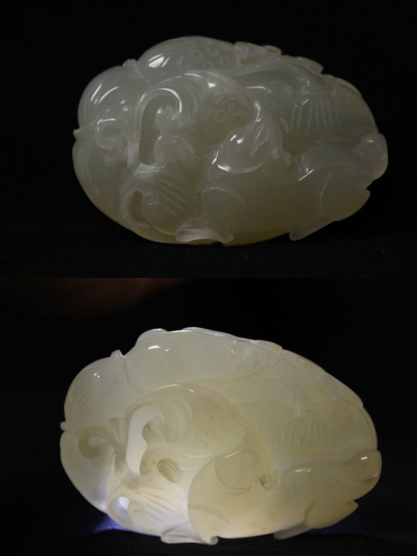 2 Chinese agate carved ornament - 7