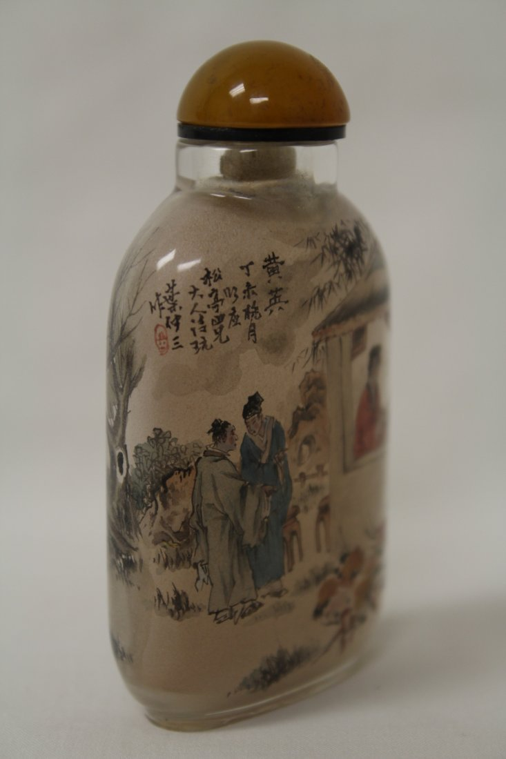 Chinese inside painted snuff bottle - 3