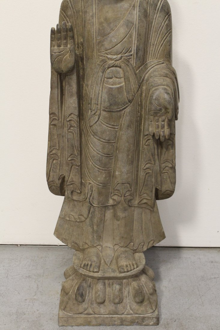 Chinese life size stone carved standing Buddha - 3