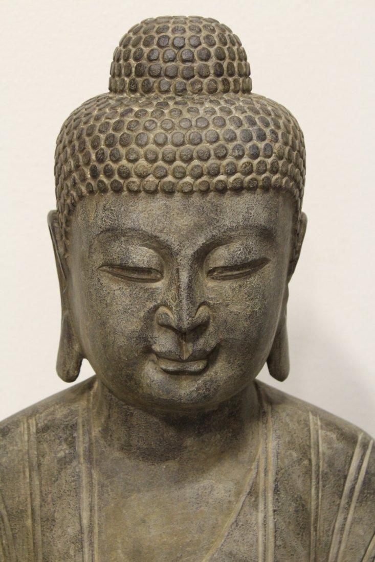 Chinese life size stone carved standing Buddha - 4