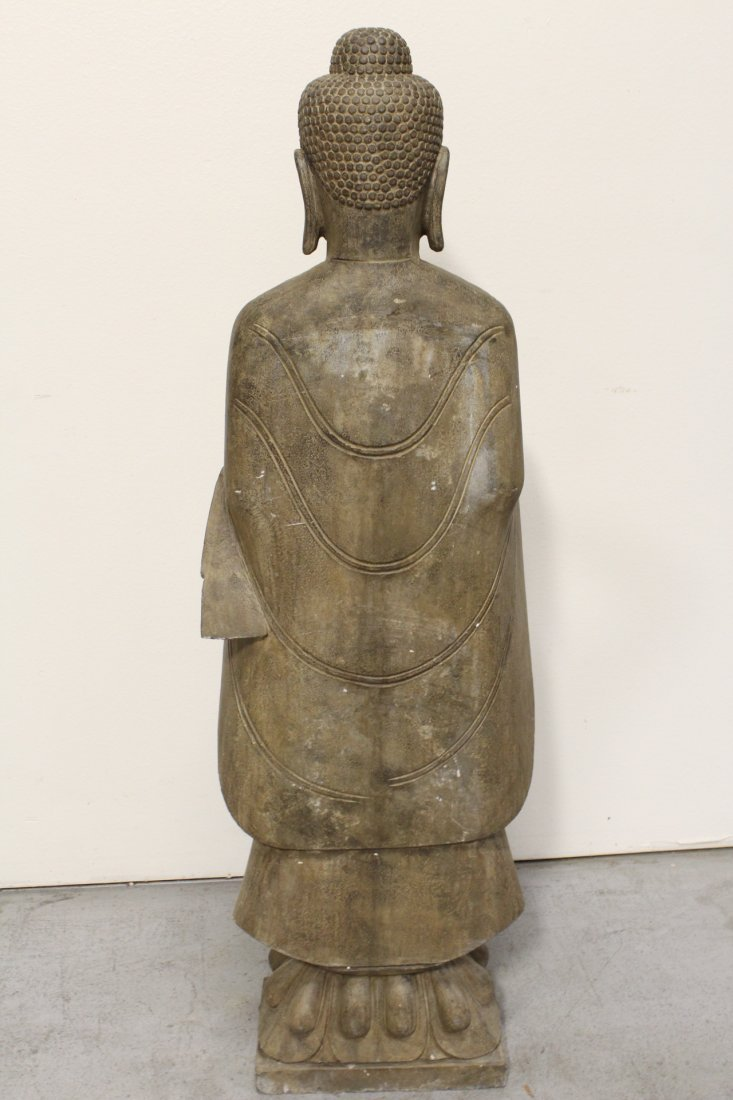 Chinese life size stone carved standing Buddha - 9