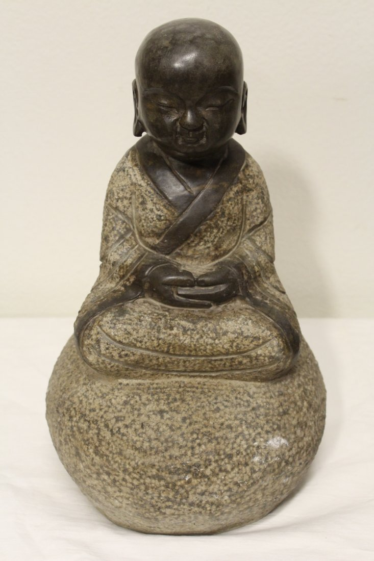 Pair Chinese stone carvings - 7