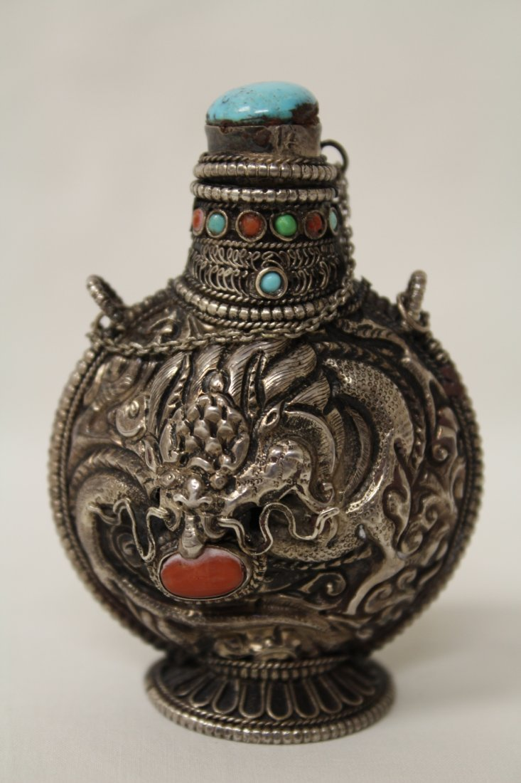 A silver like snuff bottle - 4