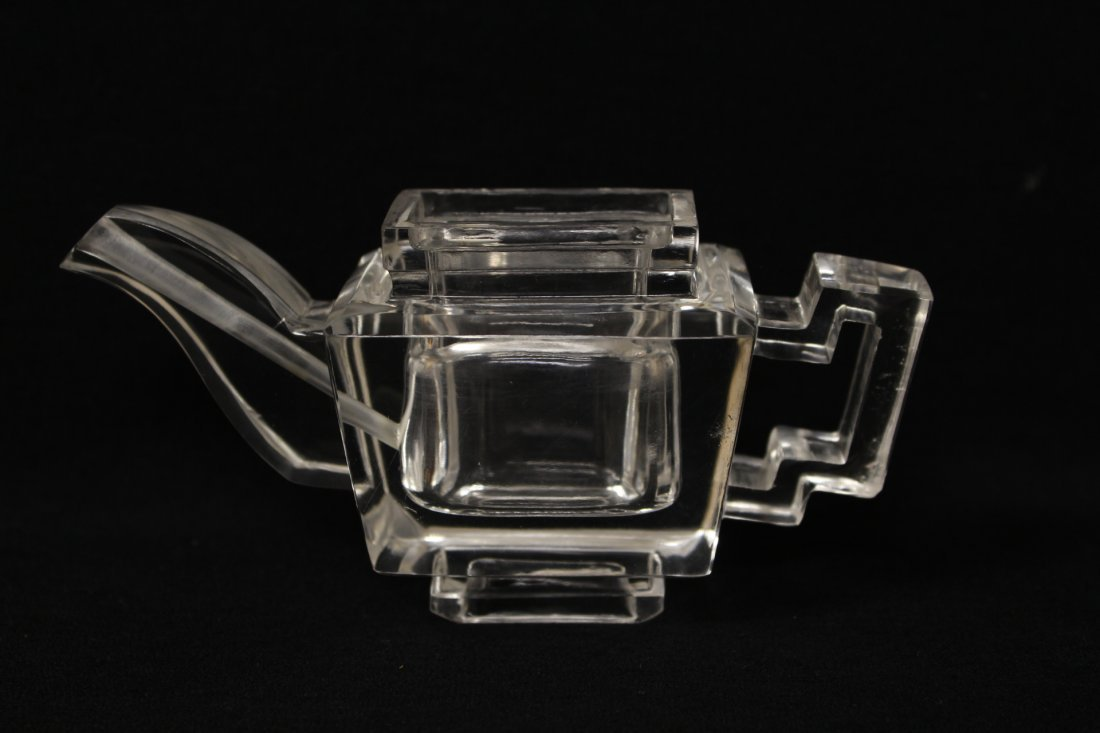 Chinese antique rock crystal carved teapot