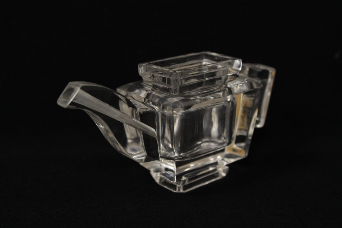 Chinese antique rock crystal carved teapot - 2
