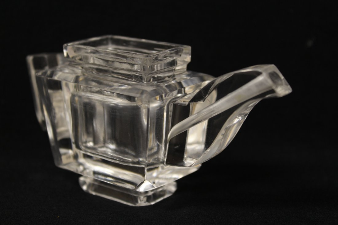 Chinese antique rock crystal carved teapot - 5