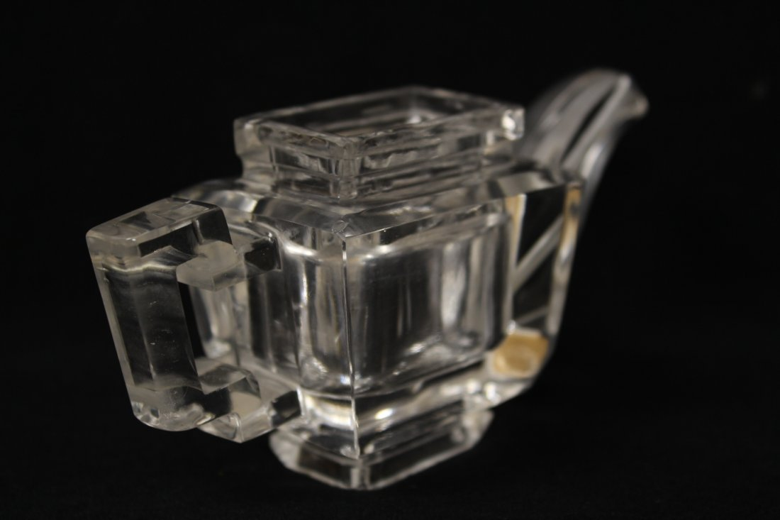 Chinese antique rock crystal carved teapot - 6