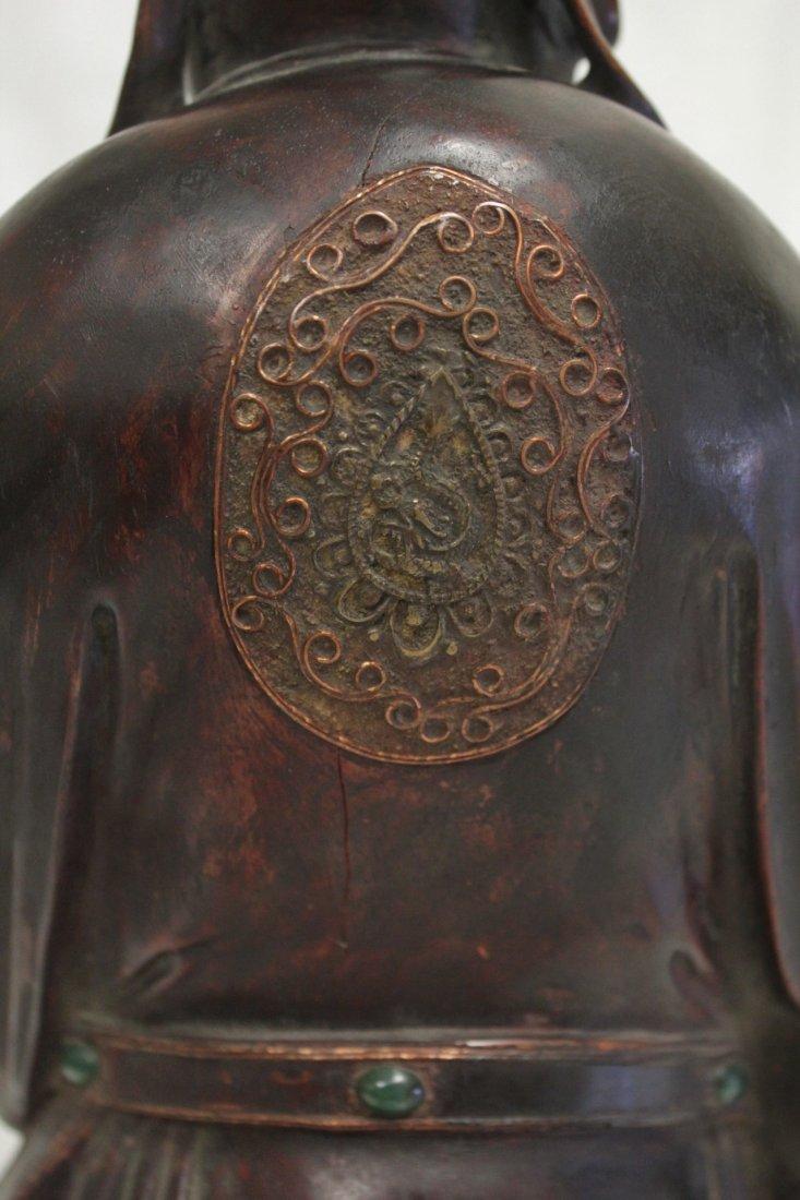 rosewood carved Daoism god - 10