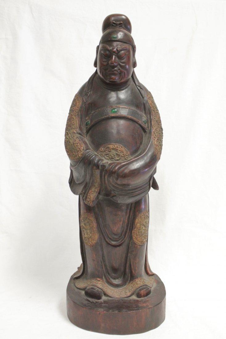 rosewood carved Daoism god