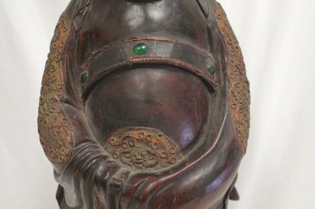 rosewood carved Daoism god - 6