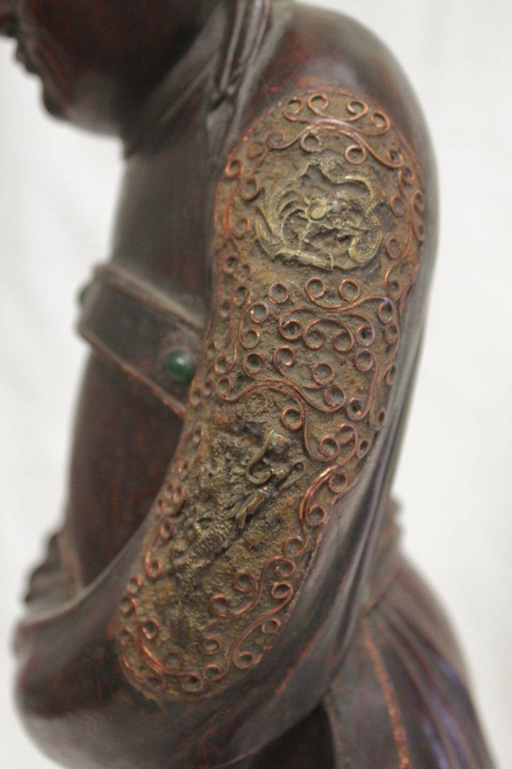 rosewood carved Daoism god - 9