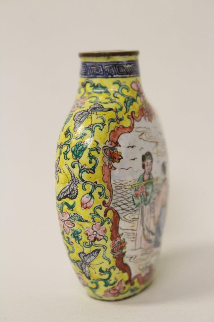 Chinese enamel on copper snuff bottle - 9