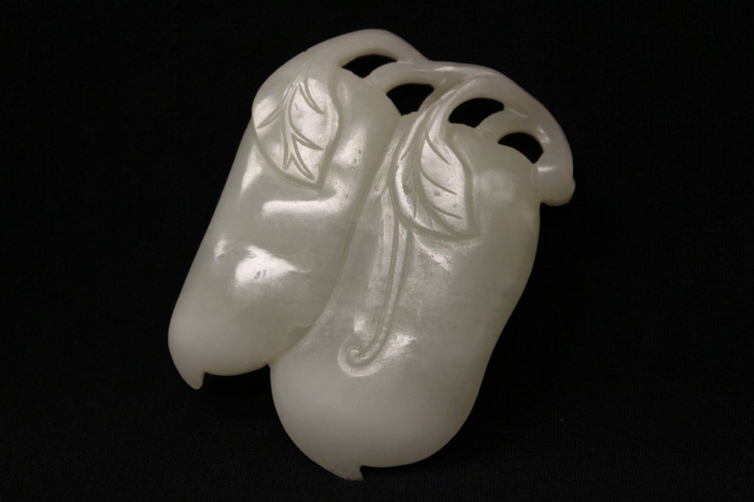 Chinese antique white hetian jade carving - 2