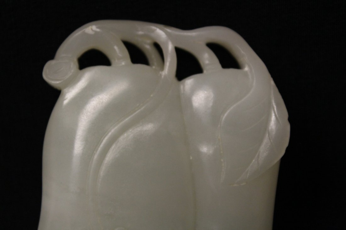 Chinese antique white hetian jade carving - 4