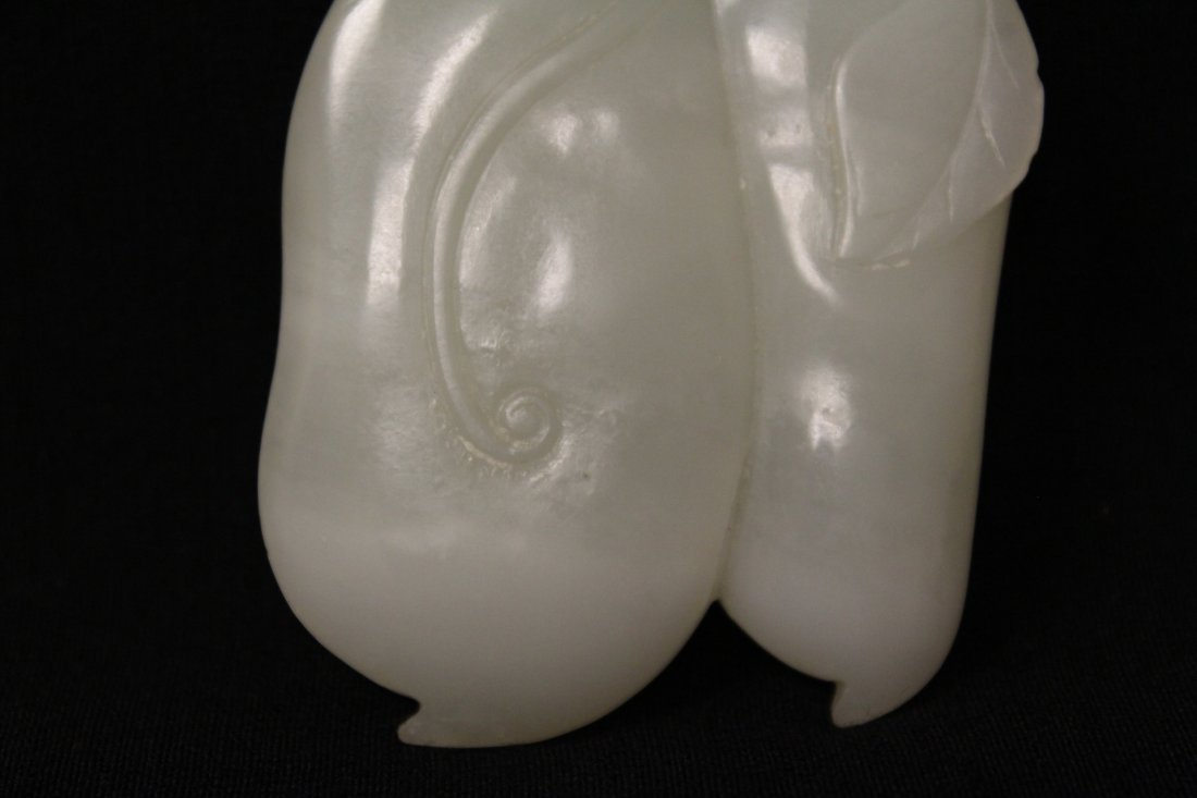 Chinese antique white hetian jade carving - 5