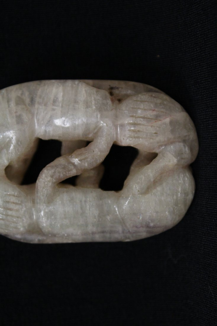Chinese rock crystal carving depicting 2 cats - 8