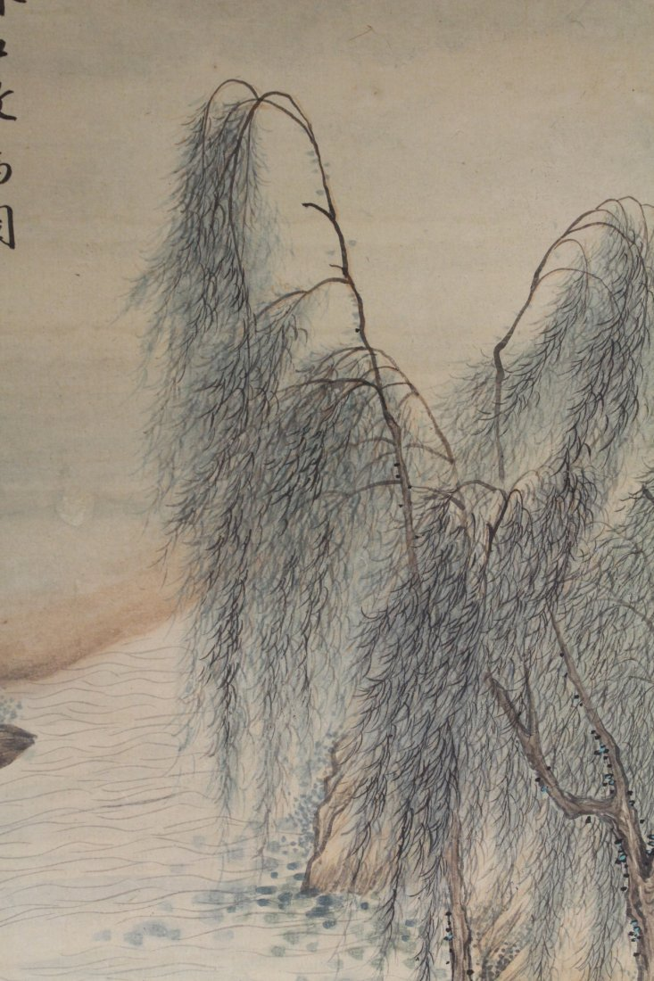 Chinese unframed watercolor panel - 8