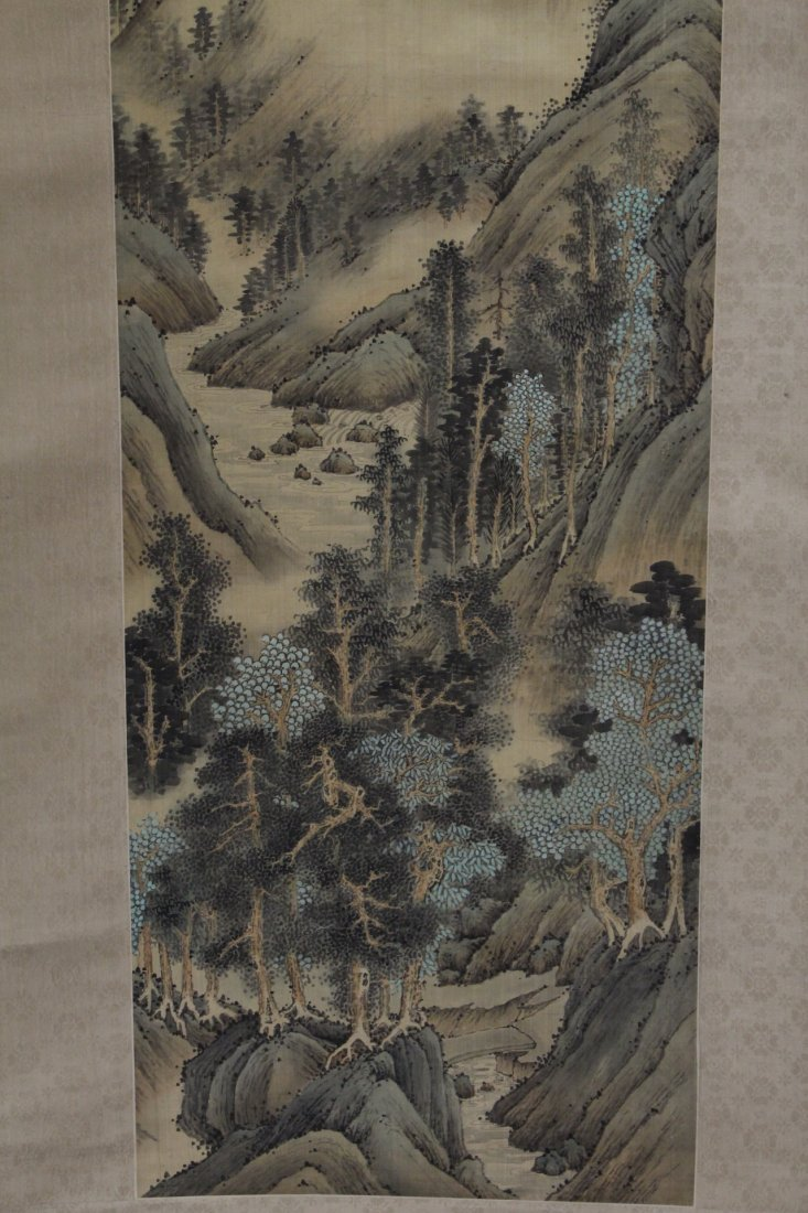 A beautiful Chinese watercolor scroll - 4