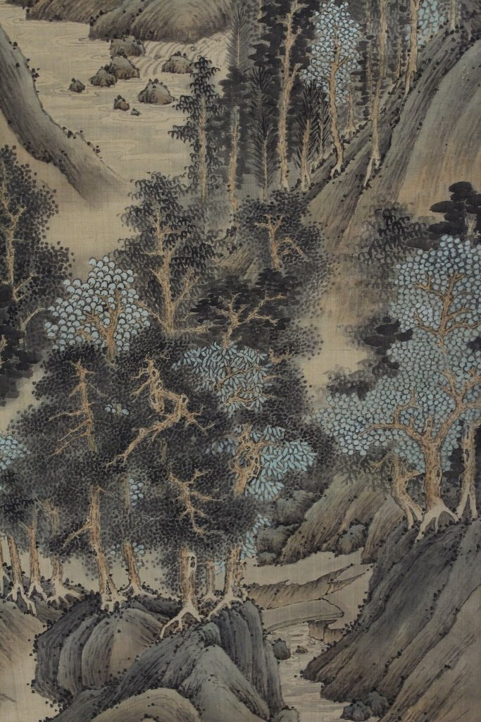 A beautiful Chinese watercolor scroll - 5