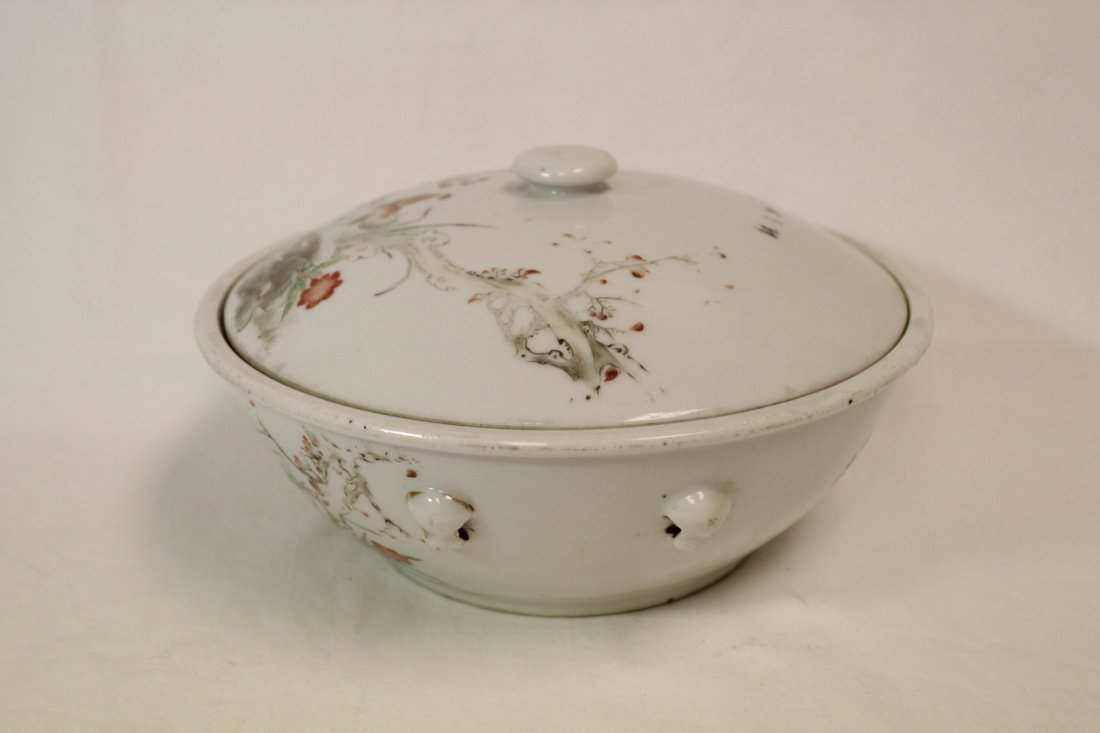 Chinese early 20th c. famille rose covered bowl - 2