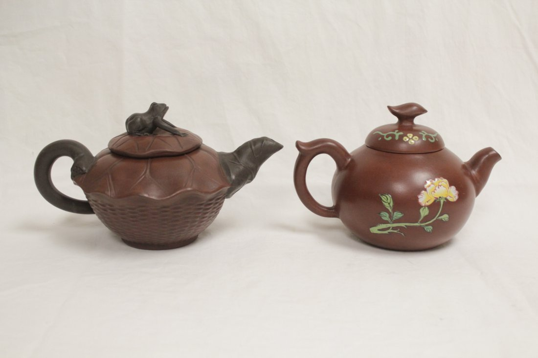 2 Yixing teapot