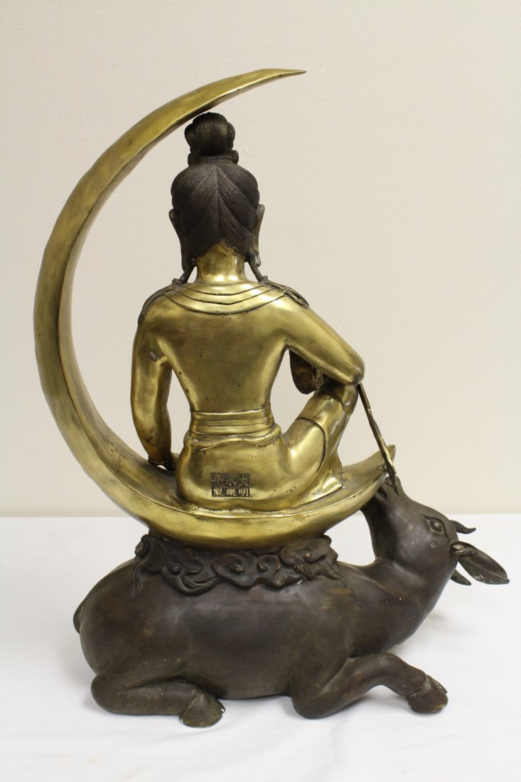 Chinese bronze sculpture of Buddha - 9