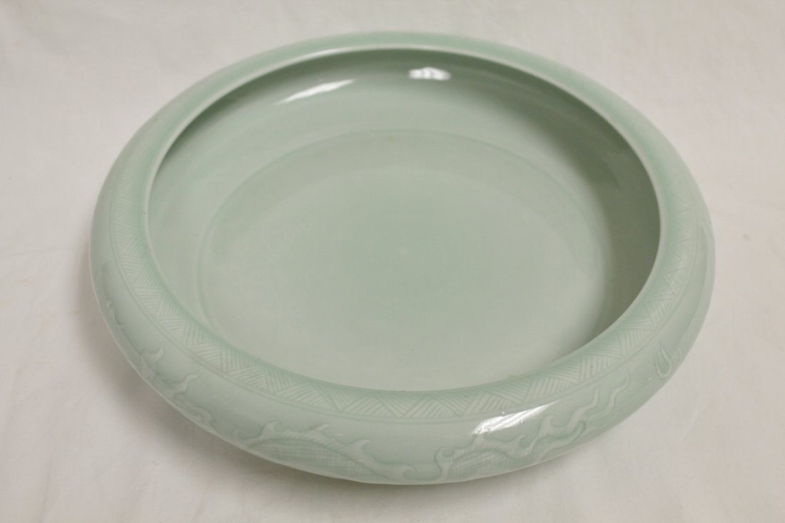 Chinese celadon porcelain large brush wash