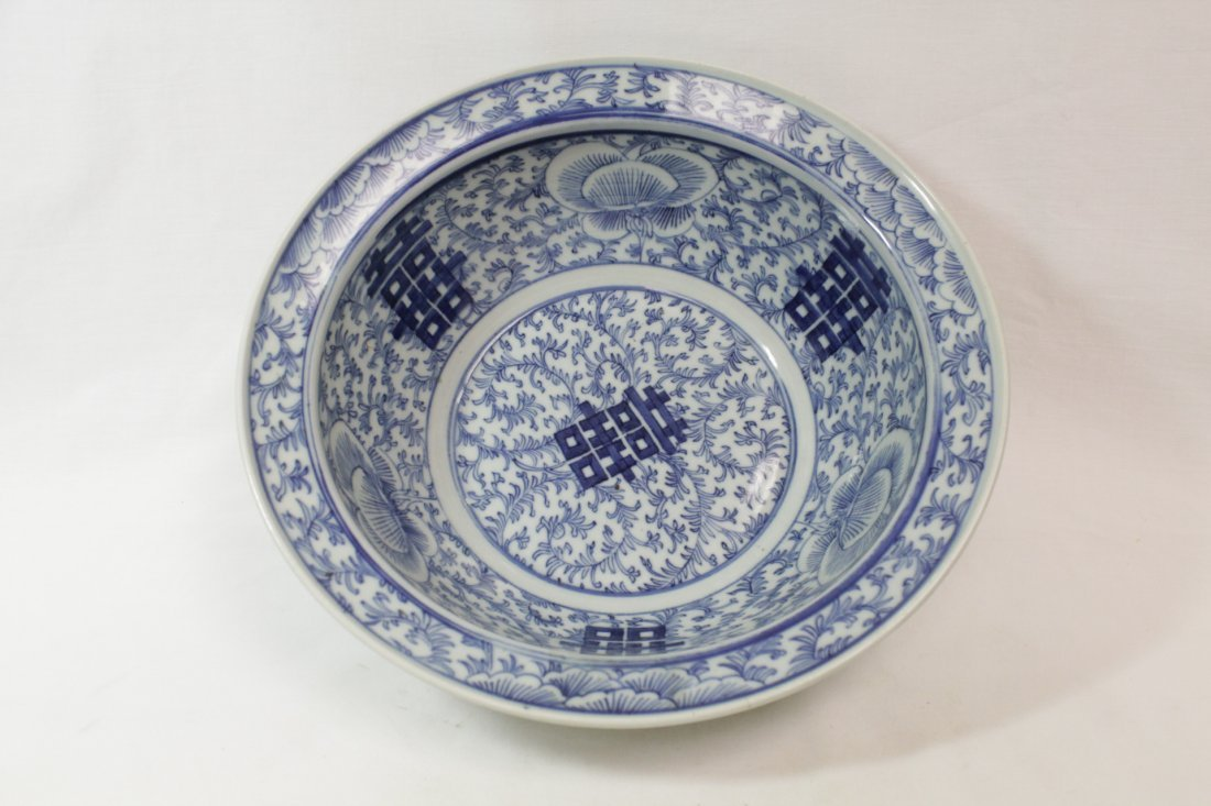 Chinese antique blue and white bowl - 3