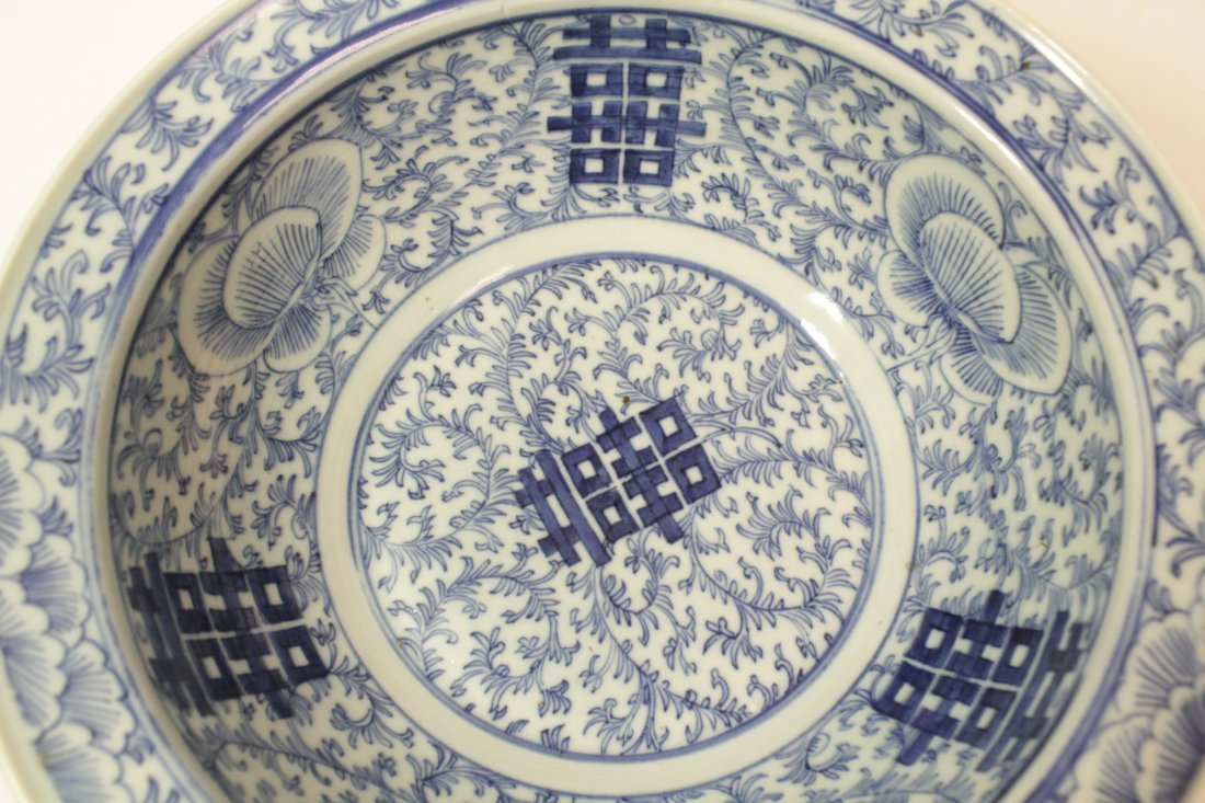 Chinese antique blue and white bowl - 5